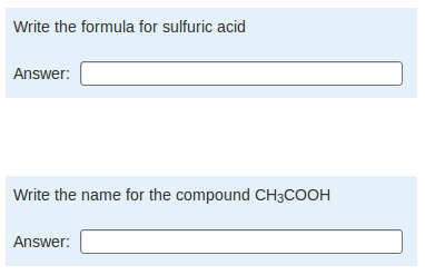 Screenshot showing two questions about atomic numbers
